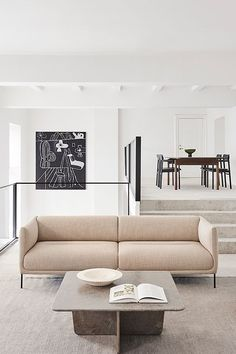"""Referencing the Japanese words Japanese 'ko' and 'nami', meaning 'little wave"""", careful attention has been given to create a streamlined sofa with a feeling of continuity. Featuring gentle curves for the inner armrests, discrete seams and fixed cushions tailored for a tight fit boasting a seamless flow of fabric #fredericiafurniture #erikjørgensen #konami #konamisofa #damianwilliamson #interiordesign #danishdesign #scandinaviandesign #livingroomdecor #craftedtolast #modernoriginals #sofa #sofas Co Working, Hotel Lobby, Lounge Areas, Danish Design, Scandinavian Design, Living Room Decor, Relax, Cushions, Couch"""
