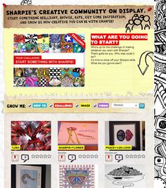 The Library Voice: Sharpies! Sharpies! Sharpies! A Place To Create, Challenge, & Show Others How To Do It Too!