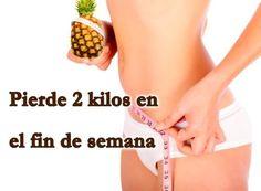 Pierde 2 kilos en el fin de semana Pierde 2 kilos en el fin de semanaLa dieta de la Piña es una de las más efectivas para perder peso en un fin de semana y en