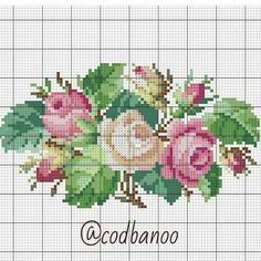 Image may contain: flower Cross Stitch Rose, Cross Stitch Embroidery, Embroidery Patterns, Hand Embroidery, Cross Stitch Patterns, Vintage Cross Stitches, Magnolia Flower, Flower Patterns, Needlepoint