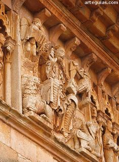 *SPAIN~Frieze with Maiestas Domini and Tetramorph. In its current state, the church of San Juan Bautista de Moarves is a simple rural building of a single ship finished off in a header quadrangular result of two distinct stages: