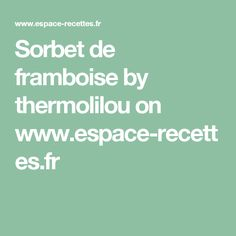 Sorbet de framboise  by thermolilou  on www.espace-recettes.fr
