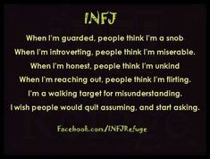 I wish I could be any other personality other than INFJ. its so lonely. Infj Mbti, Intj And Infj, Infj Type, Enfj, Infj Personality, Personality Psychology, A Silent Voice, My Demons, Sayings