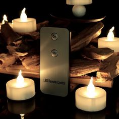 12 Piece Luminara Moving Wick LED Flameless Candles Remote Control Timer  Battery #Youngerbaby Nice Design