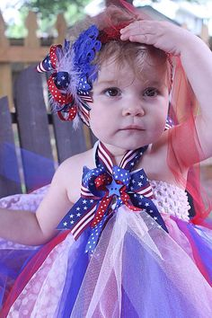 Patriotic Tutu Dress and Headband by RosaBellesBoutique on Etsy, $38.00