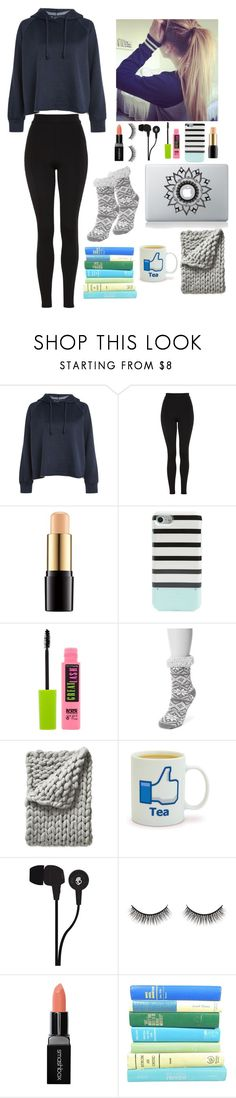 """""""Day 1 at Tahoe"""" by gussied-up ❤ liked on Polyvore featuring Topshop, Lancôme, Kate Spade, Maybelline, Muk Luks, Serena & Lily, Skullcandy, Battington and Smashbox"""