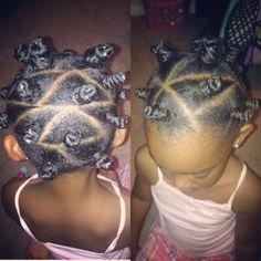 Bantu knots!!  Natural hair  Kids natural hair