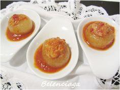 Cebollas rellenas de bonito. Las cebollas rellenas son un plato típico de la cocina asturiana. Los rellenos más habituales son el bonito y la carne. Se hacen todo el año,con bonito en conserva, pero en temporada de bonito fresco es una tentación preparar...