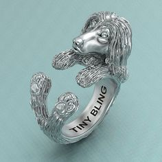 Afghan Hound Breed Jewelry Cuddle Wrap Ring