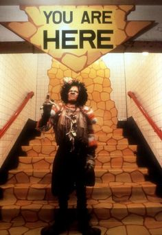 Michael Jackson as the scarecrow in The Wiz