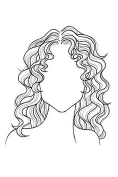 Wavy or Curly Hair, Square Face