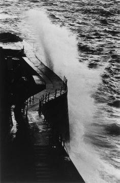 "Ikko NARAHARA :: Island without Green―Gunkanjima: In Stormy Weather from ""Human Land″, 1954-57"