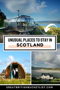 Looking for a remote Scottish retreat? From cute castles to crazy treehouses, these are some of the most unusual places to stay in Scotland! #Scotland #ScotlandAccommodation #ScotlandHotels #UniqueHotelsScotland #UnusualHotelsScotland #CoolHotelsScotland #WhereToStayInScotland