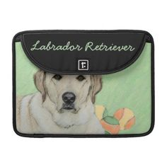 #Labrador Retriever (Yellow) Sleeve For MacBooks - #labrador #retriever #puppy #labradors #dog #dogs #pet #pets
