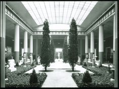 A view of The Roman Sculpture Court. Photographed in 1926.