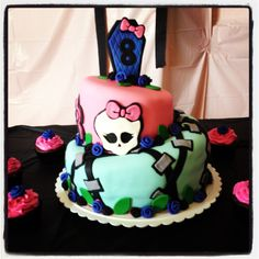 My nieces birthday cake- Monster High theme :)