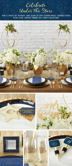 No need to wish upon a star! Dreamy constellation wedding decor and wedding favors will transform your big day into an event as beautiful as the night sky.
