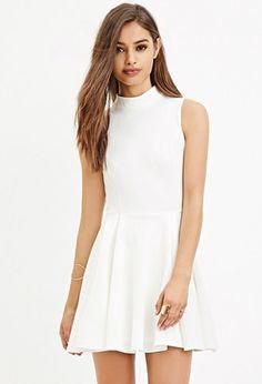 Textured Skater Dress | Forever 21 - 2000150541