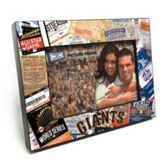 """San+Francisco+Giants+Ticket+Collage+4""""+x+6""""+Wooden+Frame"""