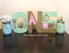 boho decorated letters for babys first birthday! First Birthday Theme Girl, 1st Birthday Themes, Wild One Birthday Party, Summer Birthday, Birthday Ideas, Indian Birthday Parties, First Birthday Parties, Birthday Girl Pictures, 1st Birthdays