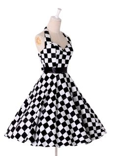 Vintage Retro 1950s 60s Polka Dots Swing Pinup Rockabilly Housewife Party Dress | eBay