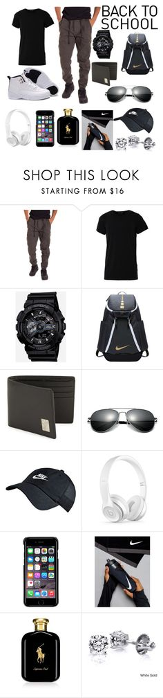 """Back to school clothing for Guys"" by cari01 ❤ liked on Polyvore featuring Numero00, G-Shock, NIKE, Versace, Beats by Dr. Dre, County Of Milan, Ralph Lauren, men's fashion and menswear"