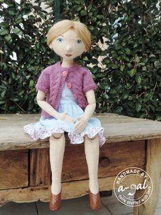 cloth doll handmade by a-gal.com