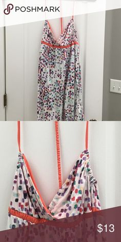 Hang 10 dress Cute mini with a sexy string down back. Can be worn as beach cover up too Hang 10 Dresses Mini