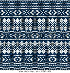 Winter Seamless Knitted Pattern - stock vector