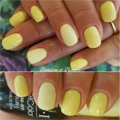 """❤ Mettez le printemps à vos doigts avec """"Towel me about it"""" by O.P.I ! Sa jolie couleur jaune saura mettre en valeur vos mains bronzées ! ❤ Merci ma Julia 😘 #opi #gelcolor #towelmeaboutit #spring #yellownails #sugareffect"""