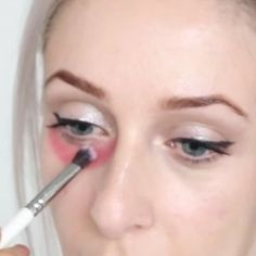 Cover dark circles under your eyes with red lipstick before you apply concealer. | 15 Concealer Tricks To Make Your Life Easier