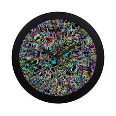 Psychedelic Explosion Circular Plastic Wall clock Psychedelic, Fun Stuff, Clock, Plastic, Wall, Fun Things, Watch, Trippy, Clocks