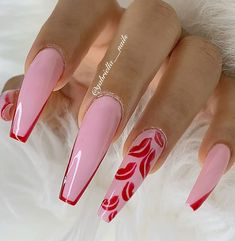 """🎶Gabby🇬🇹%'s Instagram photo: """"👄👄👄❤️❤️@gabriella___nails #pasionpormitrabajo 🇬🇹🇬🇹% #gabriella____nails #nailsmagazine @madam_glam @melformakeup @make @makeup…"""" Madam Glam, La Nails, Make Makeup, Valentine Nails, Ballerina Nails, Nails Magazine, Nail Inspo, Nails Inspiration, Nail Designs"""