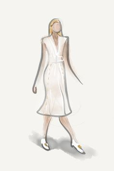 Calvin Klein RTW Fall 2013  [Photo by Paper by FiftyThree]