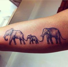 elephant family tattoos - Google Search