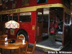 Richmond, Indiana. Double decker bus inside Clara's~~~ Royal Feast coming up!!!!