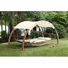 This Garden Oasis Arch Swing drops from $499.99 to $359.99 to $324.99 at Sears.com when you use coupon code SEARS35OFF300 during checkout. Plus, delivery is free! (Note: Availability may vary per zip code). This is $175 off the regular price and this isn't sold by other retailers online. The frame is solid wood and the swing is approximately the same width as a full-sized bed, able to hold 2 to 3 people. Plus, a canopy shields you from the sun.