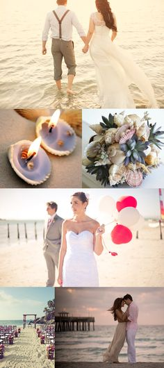 Beach wedding vow renewal inspiration!!! 2 years!! Can't wait!!! 10 year renewal!!!
