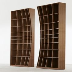 Organic book shelves