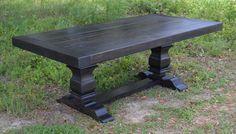 Harvest Table | Dining Table| Farmhouse Table Ebony - shipping included by GroversGrove on Etsy https://www.etsy.com/listing/155587069/harvest-table-dining-table-farmhouse
