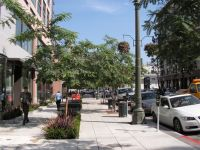 Streetscape with infiltration islands. Street Furniture, Urban Landscape, Street View, California, San Diego, Architecture, City, Prioritize, Islands