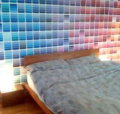 Paint chip wall!! So awesome <3