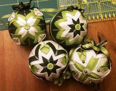 Vianocna sada v zelenom, Falošný patchwork