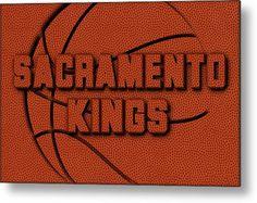 Kings Metal Print featuring the photograph Sacramento Kings Leather Art by Joe Hamilton