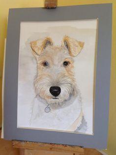 watercolour Tom Wire fox Terrier