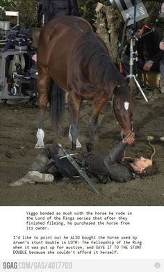 :D :D Love Viggo Mortenson knew about him purchasing his horse but its just so awesome he did that for the other horse-lover... makes me love him even more
