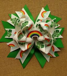 Hey, I found this really awesome Etsy listing at https://www.etsy.com/listing/223682477/st-patricks-day-hair-bow-st-paddys-day