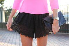 cute black shorts !