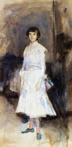 John Singer Sargent - Portrait of Violet Sargent (1883)