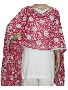Super Georgette Stole  Handembroidery SuperGeorgette Stole with Traditional Embroidery Work  Stole Length 2.25 Meter, Width 0.5 Meter  Wash Care Dry Clean Shop Now ; http://www.jankiphulkari.com/pink-super-georgette-stole-jsgs1056